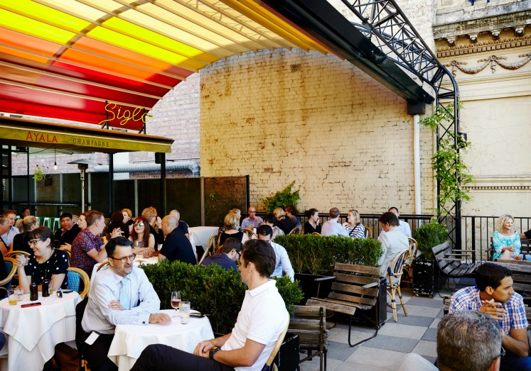 Rooftop dining at Siglo