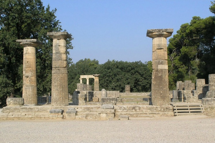 Temple of Hera, Olympia, East Pelopponese, Greece