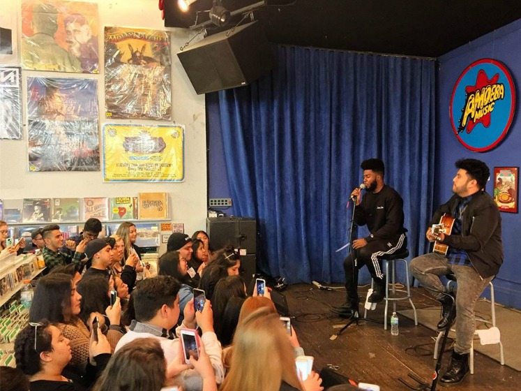 Khalid at Amoeba Music, San Francisco, California