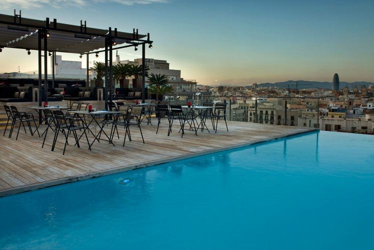 Grand Hotel Central pool, Barcelona, Spain