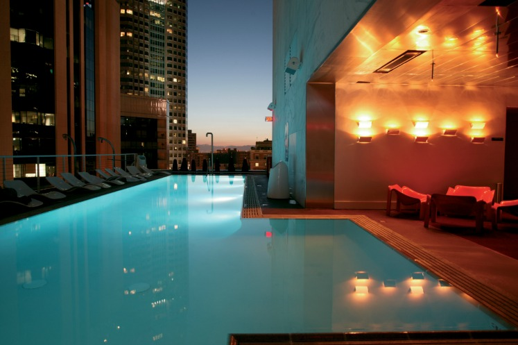 The Standard, Downtown LA rooftop pool