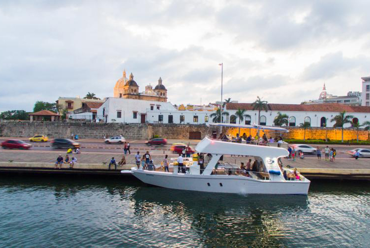 Sunset boat tour in Cartagena, Colombia