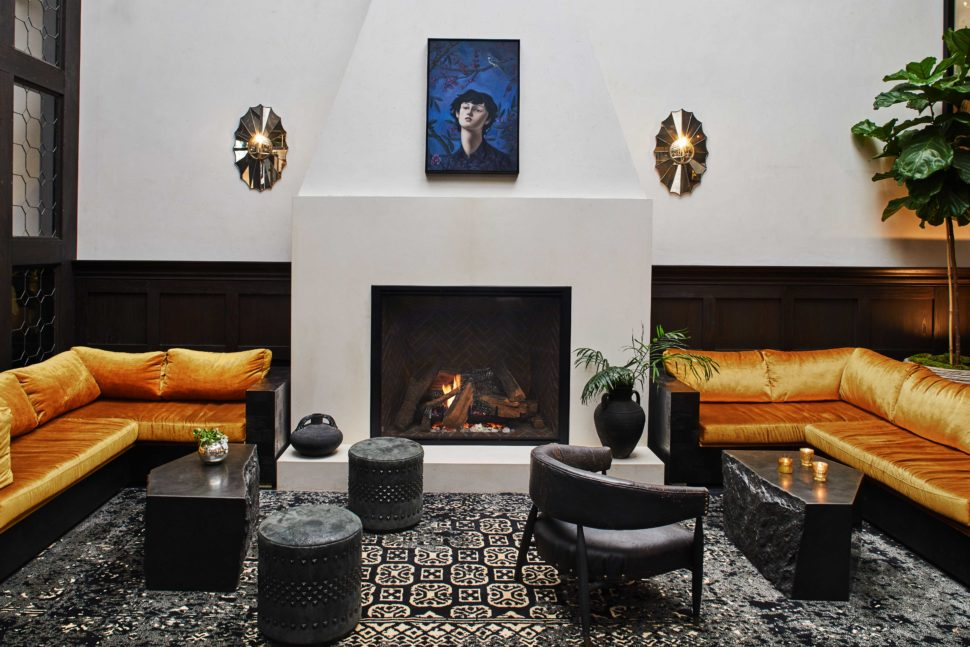 The lobby at Hotel Figueroa, Los Angeles, California