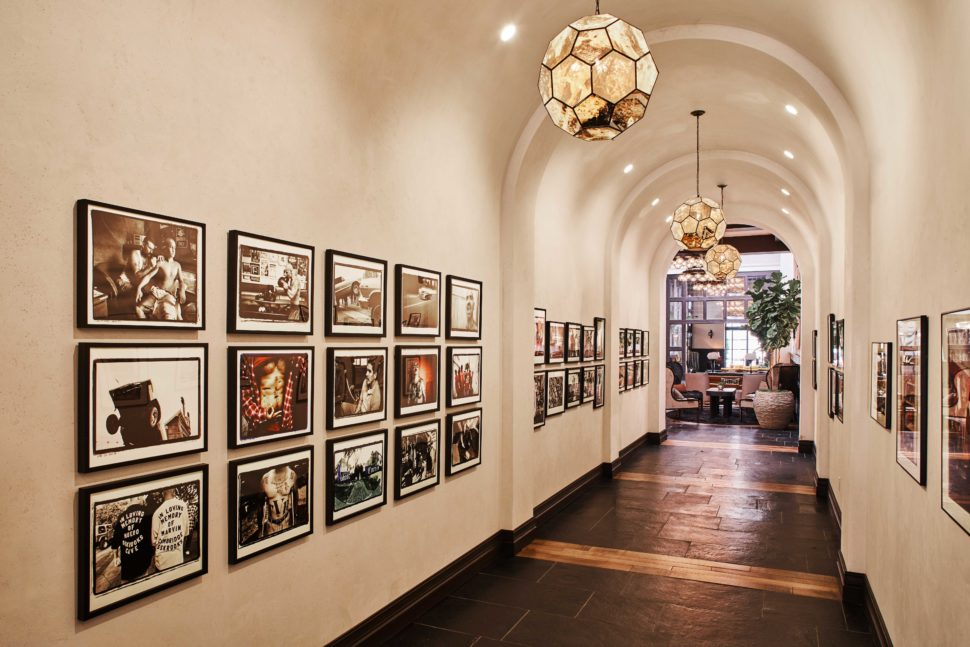 The art gallery at Hotel Figueroa, Los Angeles, California