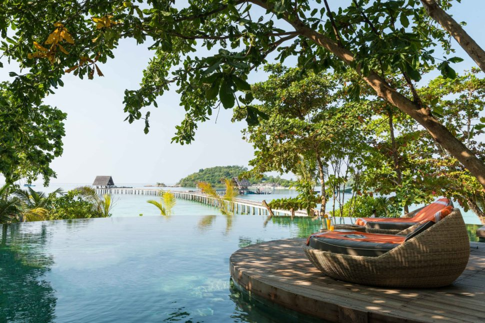 Infinity Pool at Bawah Reserve, luxury hotel on Bawah Island, Indonesia - Mr & Mrs Smith