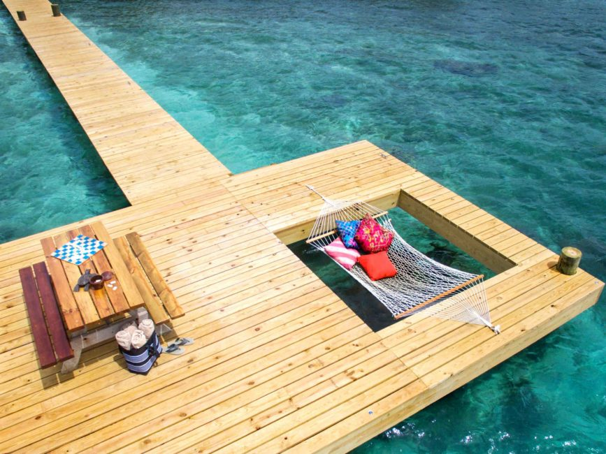 Hammock on Jetty at Coral Caye, luxury hotel in Belize - Mr & Mrs Smith
