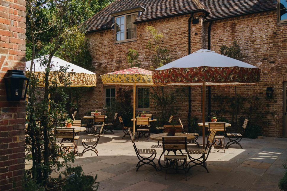 Terrace at The Pig at Bridge Place, Mr & Mrs Smith
